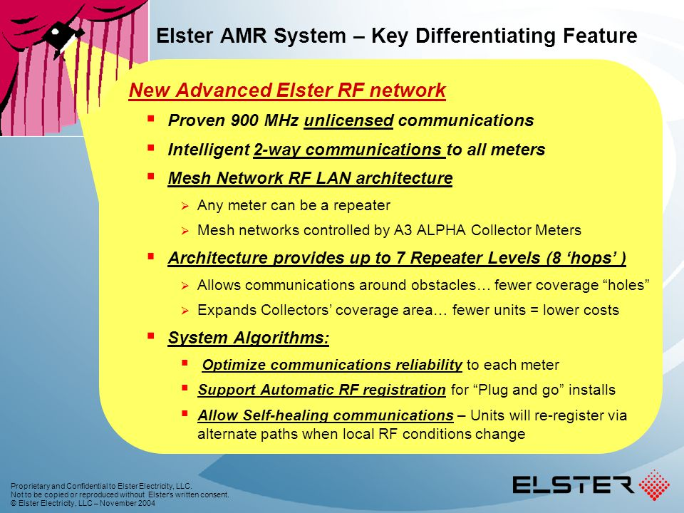 Elster AMR System – Key Differentiating Feature