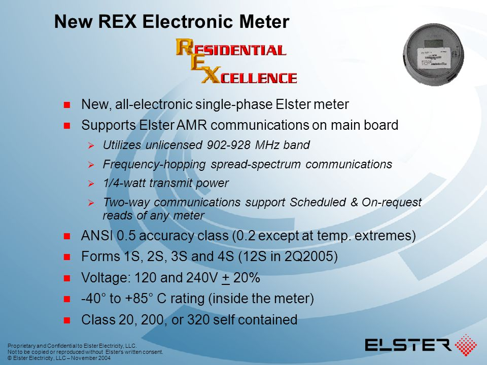 New REX Electronic Meter
