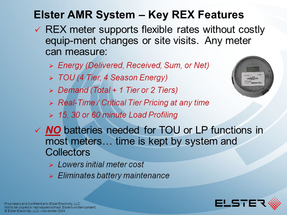 Elster AMR System – Key REX Features