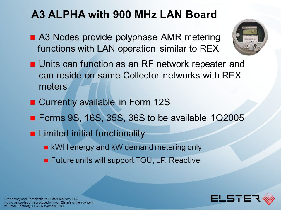 A3 ALPHA with 900 MHz LAN Board