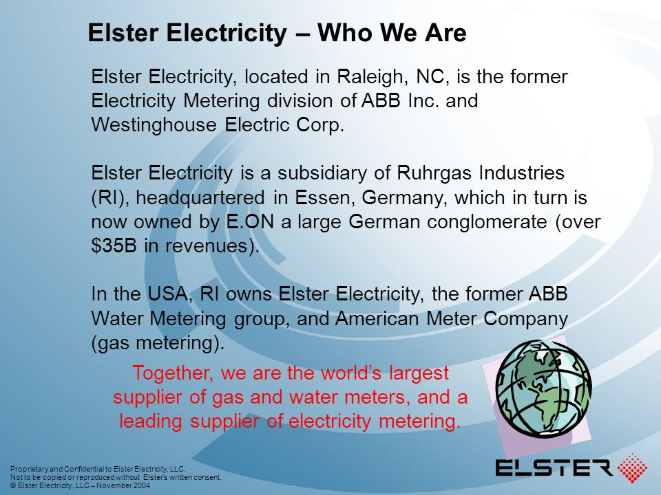 Elster EnergyAxis System Overview