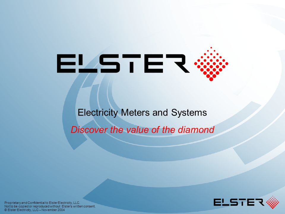 Electricity Meters and Systems Discover the value of the diamond