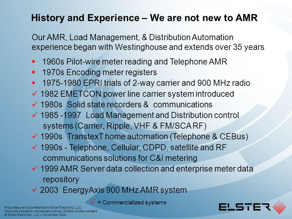 History and Experience – We are not new to AMR