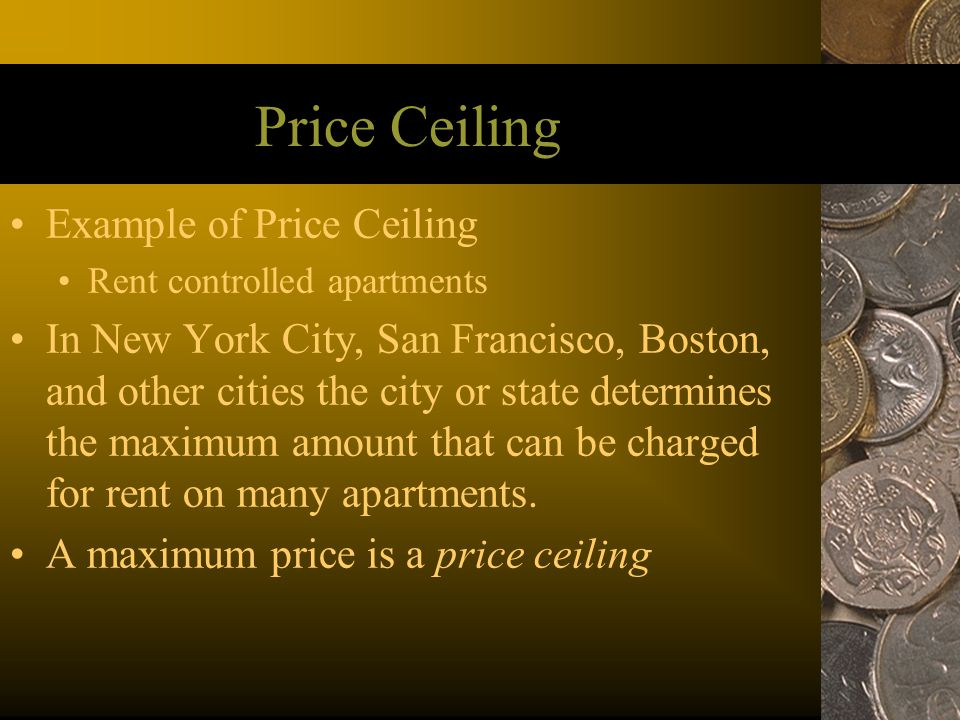 Price Ceiling Example of Price Ceiling