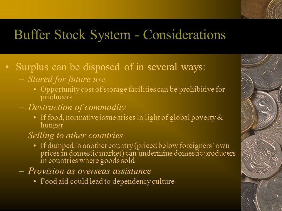 Buffer Stock System - Considerations