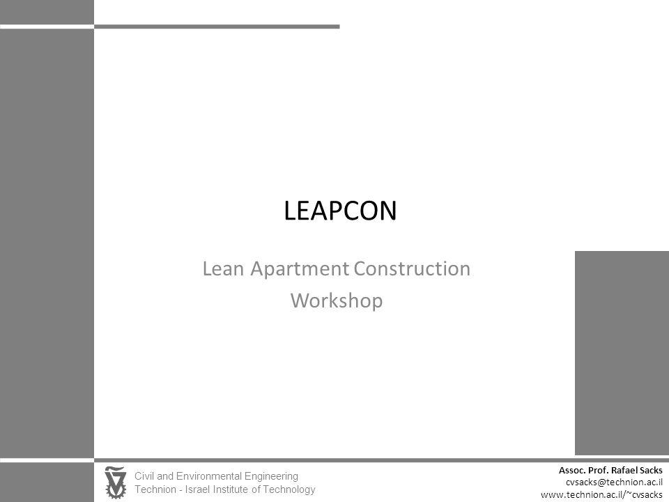 Lean Apartment Construction Workshop