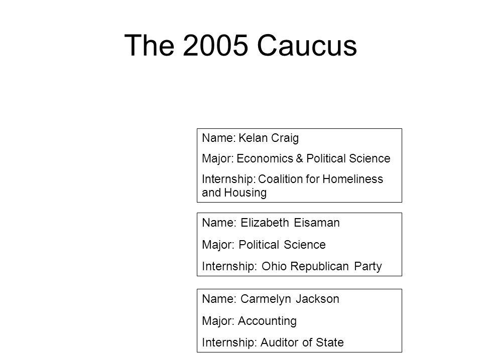 The 2005 Caucus Name: Elizabeth Eisaman Major: Political Science