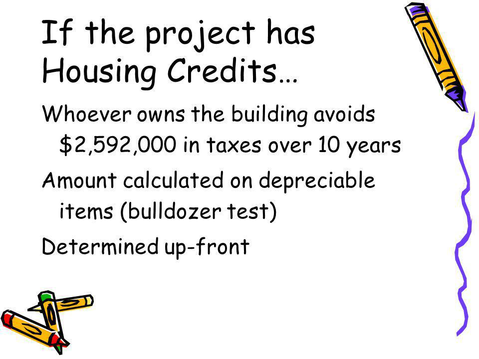 If the project has Housing Credits…