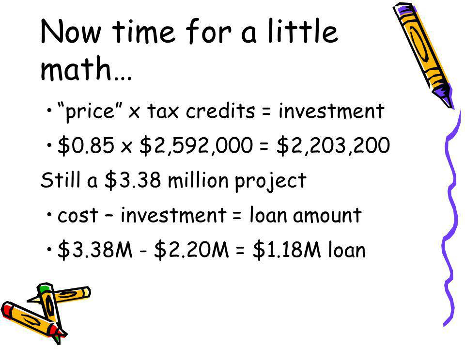 Now time for a little math…