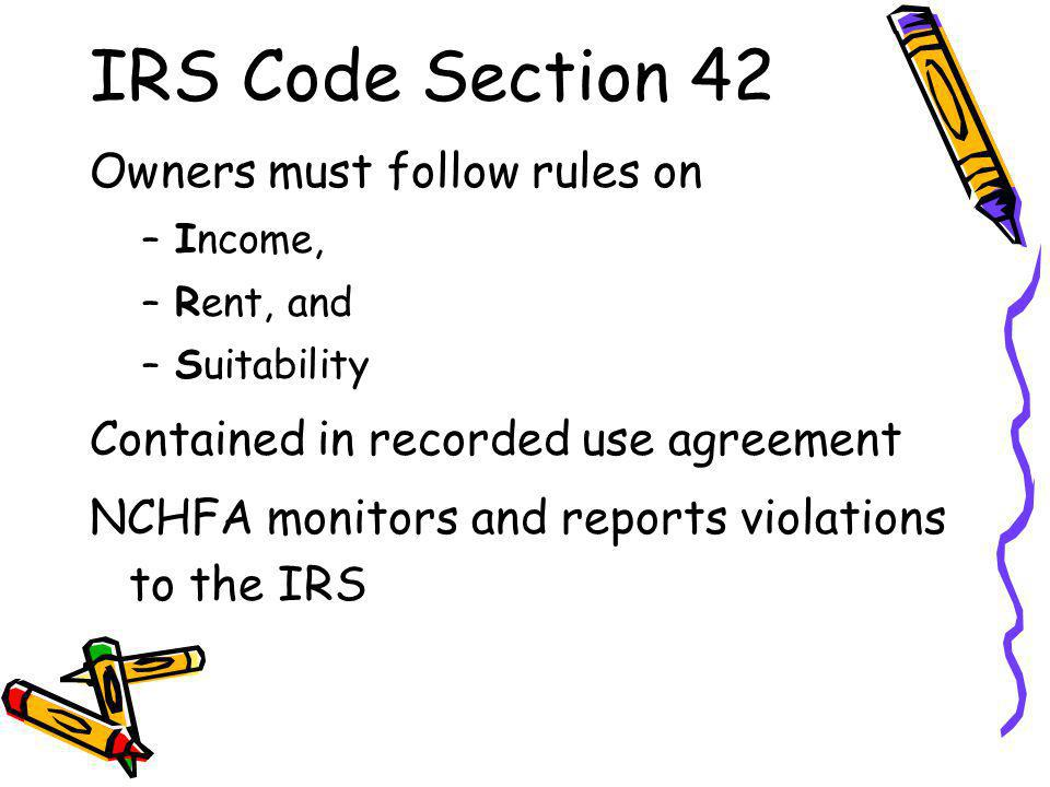IRS Code Section 42 Owners must follow rules on