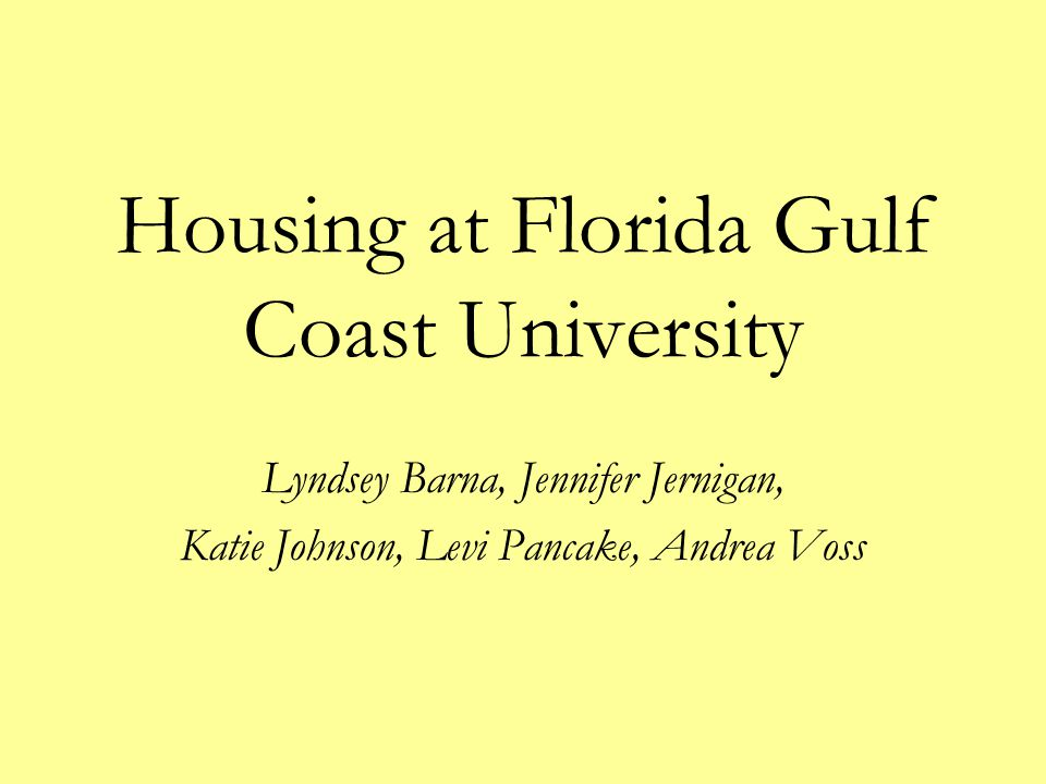 Housing at Florida Gulf Coast University