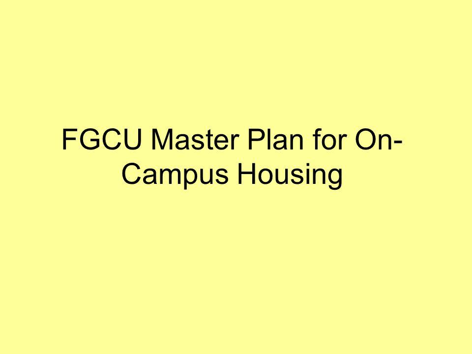 FGCU Master Plan for On-Campus Housing