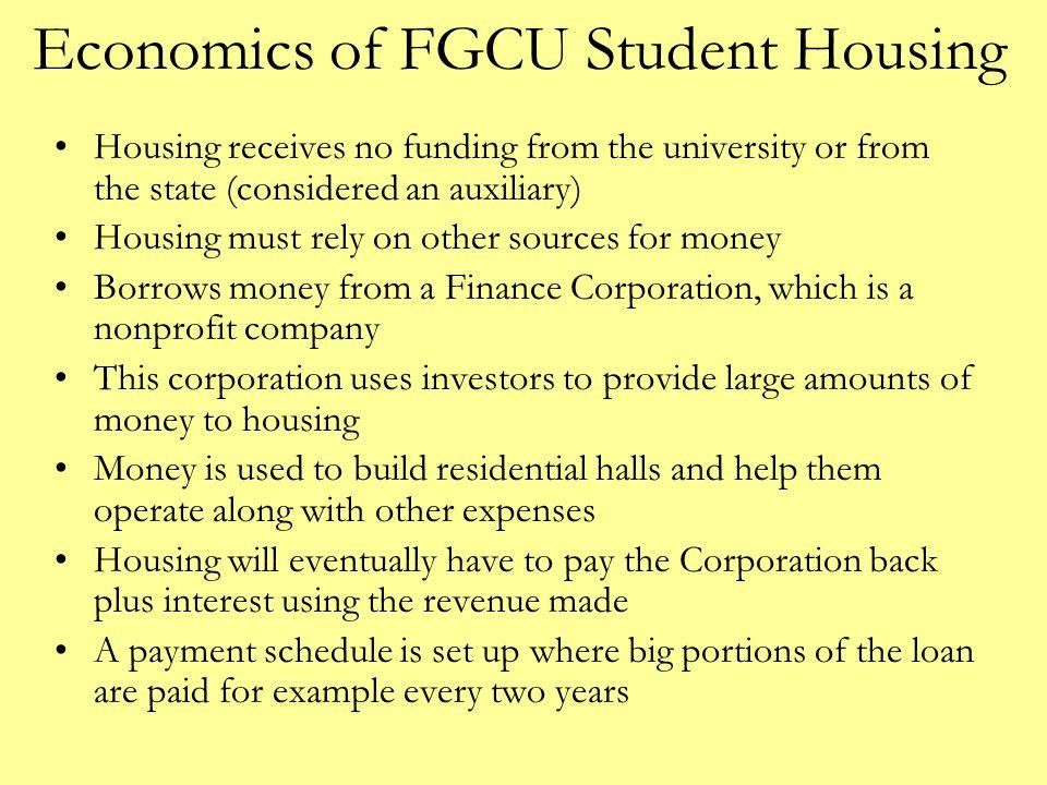 Economics of FGCU Student Housing
