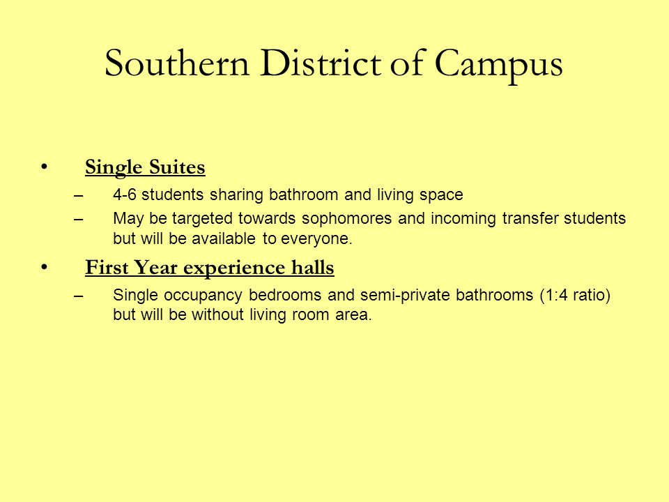 Southern District of Campus