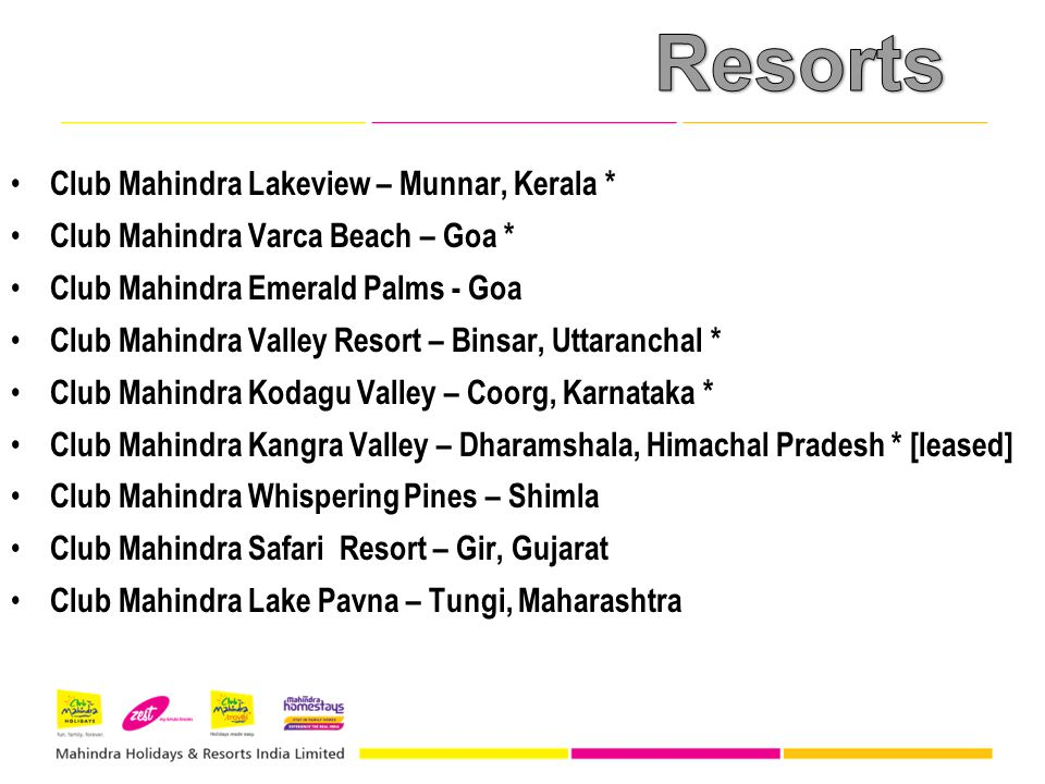 Resorts Club Mahindra Lakeview – Munnar, Kerala *