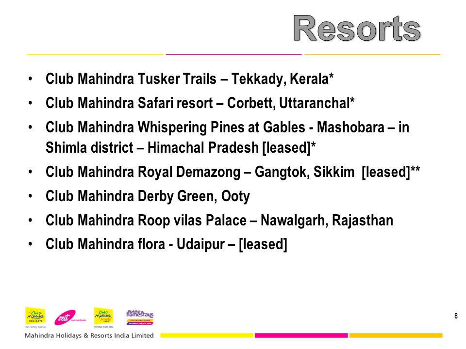 Resorts Club Mahindra Tusker Trails – Tekkady, Kerala*