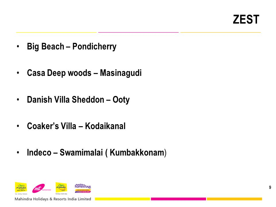 ZEST Big Beach – Pondicherry Casa Deep woods – Masinagudi