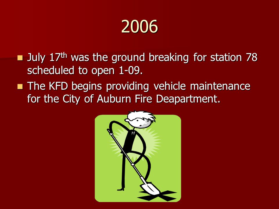 2006 July 17th was the ground breaking for station 78 scheduled to open 1-09.