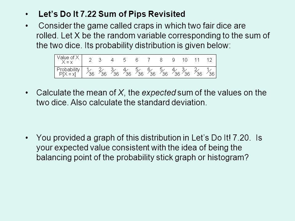 Let's Do It 7.22 Sum of Pips Revisited