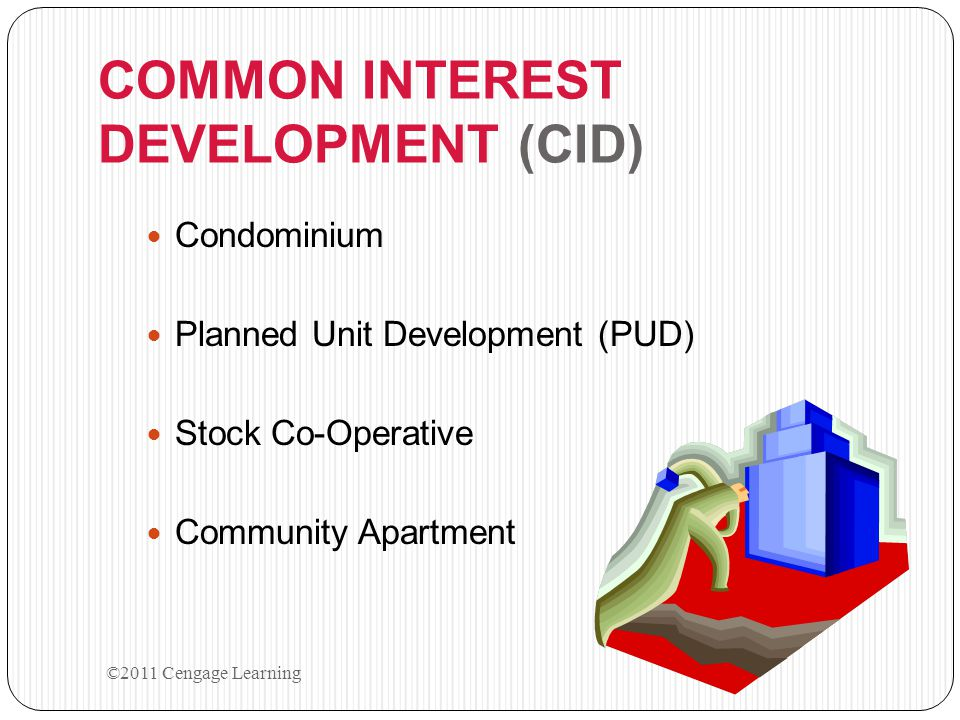 COMMON INTEREST DEVELOPMENT (CID)