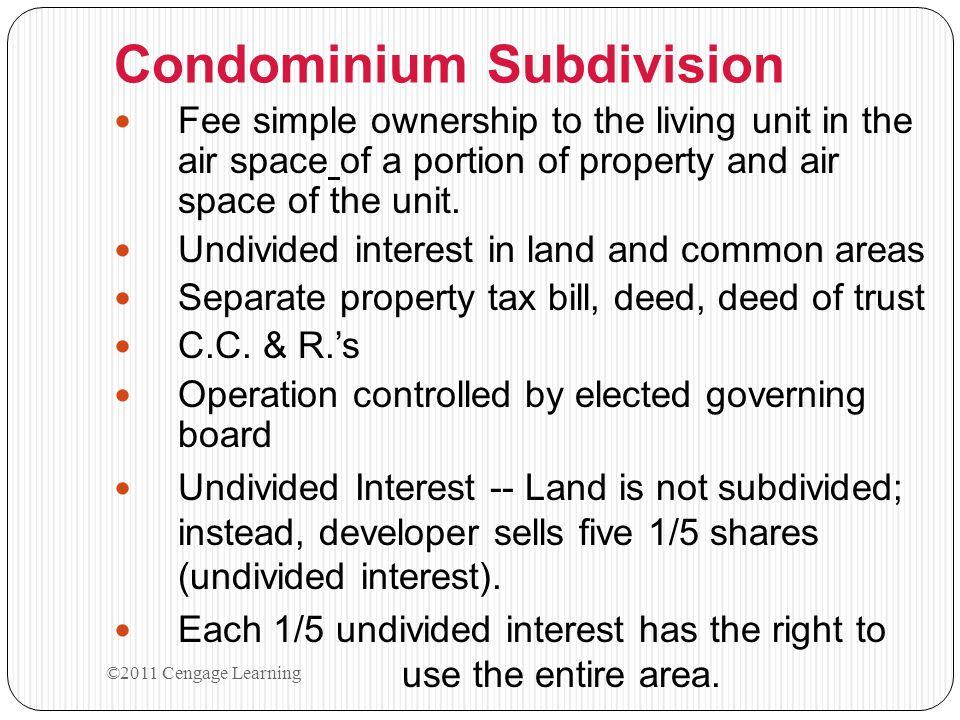 Condominium Subdivision