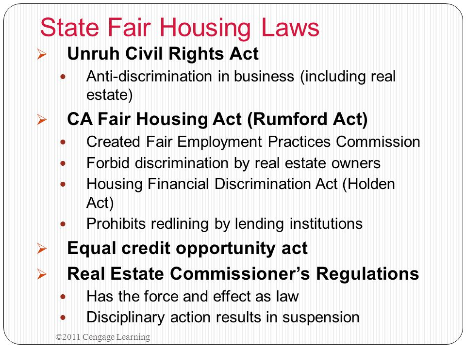 State Fair Housing Laws