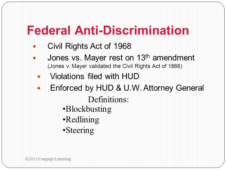 Federal Anti-Discrimination