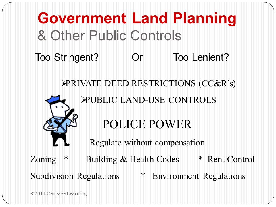Government Land Planning & Other Public Controls