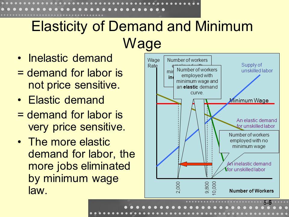 Elasticity of Demand and Minimum Wage