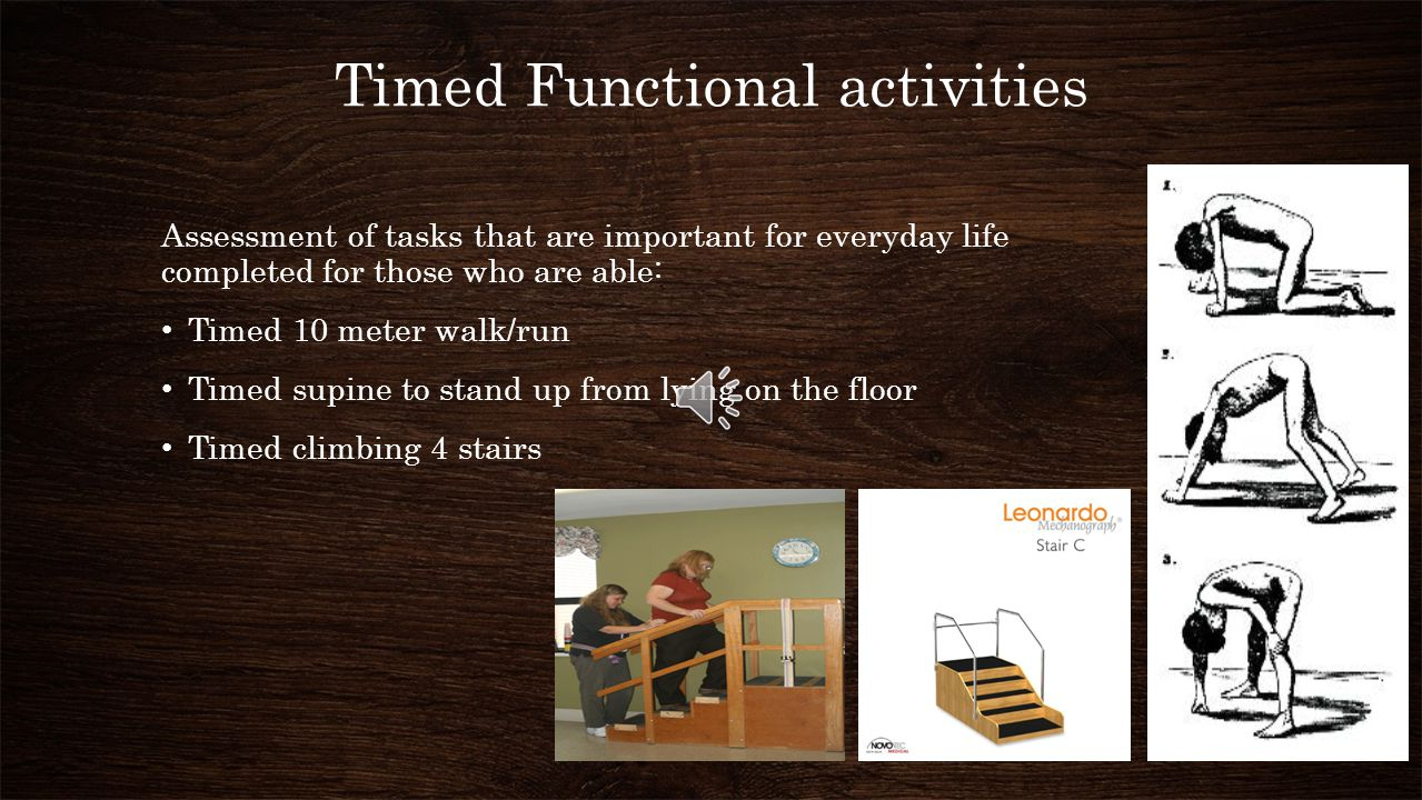 Timed Functional activities