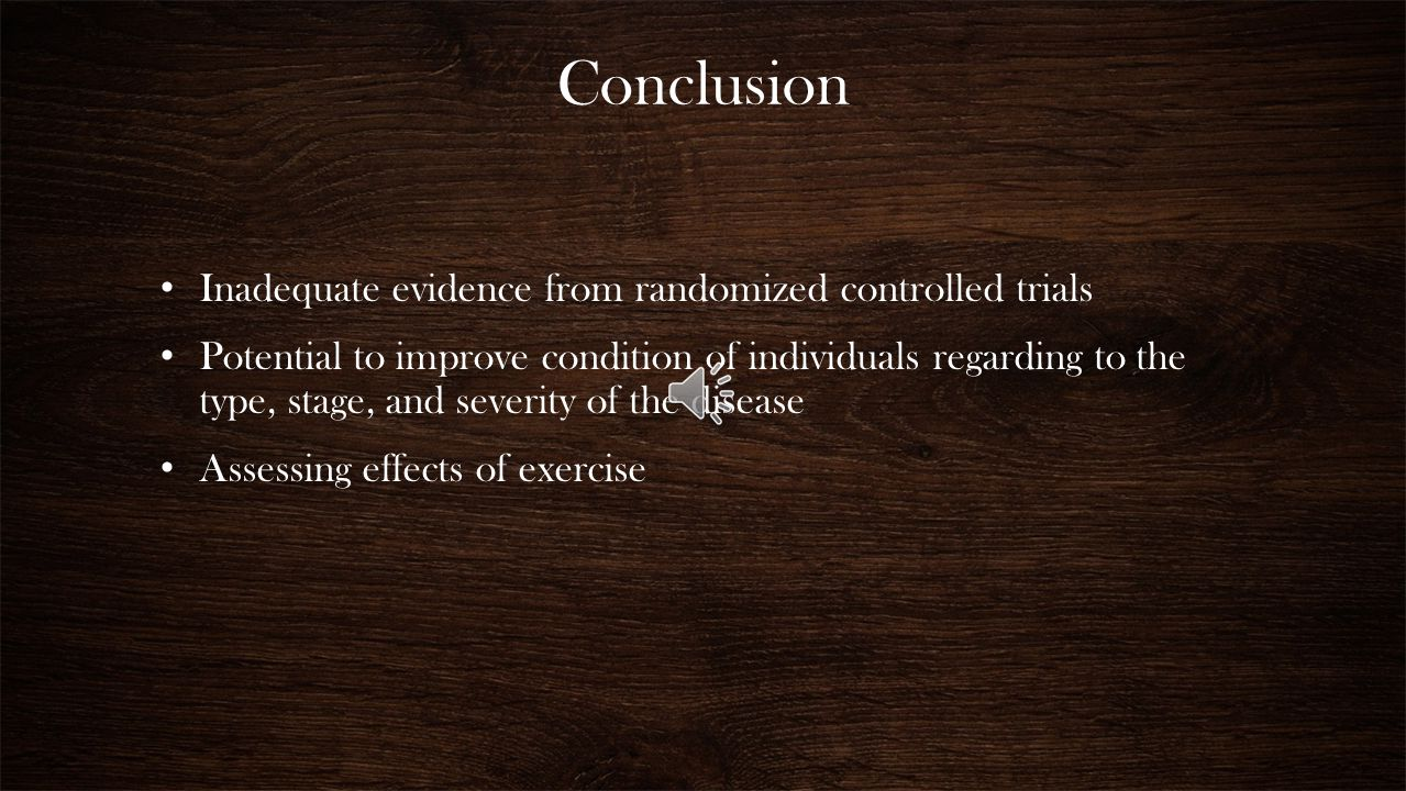 Conclusion Inadequate evidence from randomized controlled trials