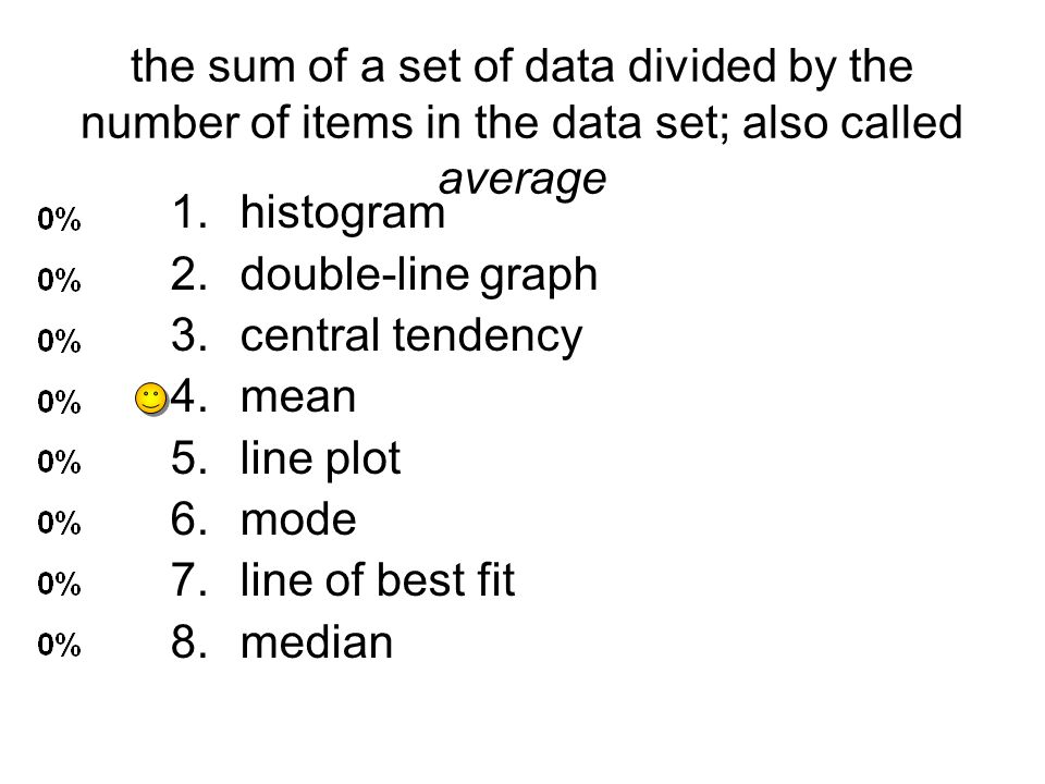 the sum of a set of data divided by the number of items in the data set; also called average