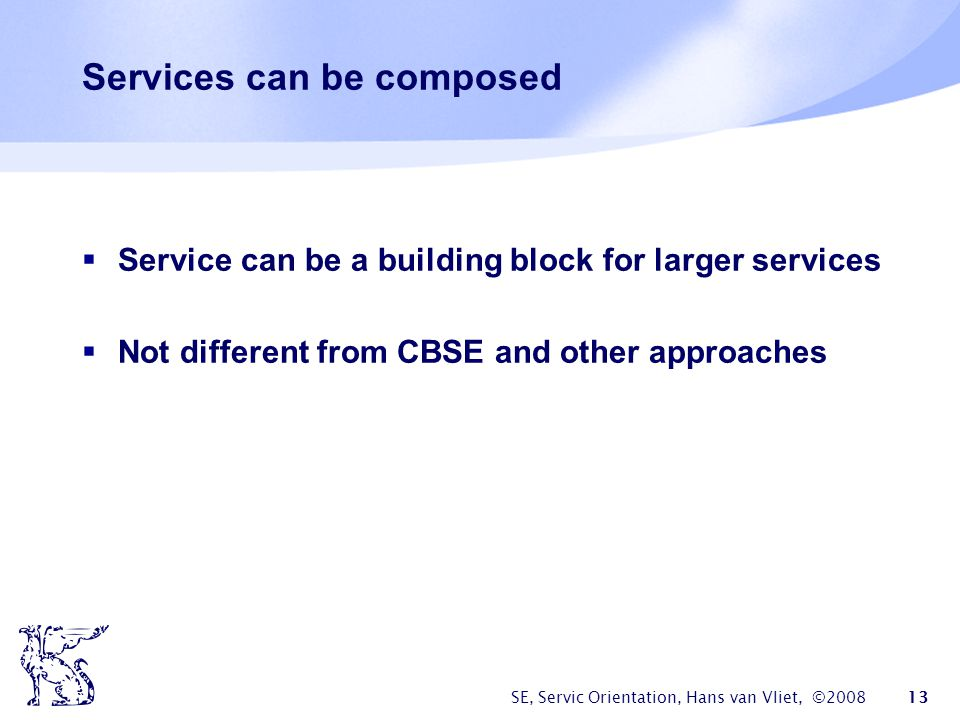 Services can be composed