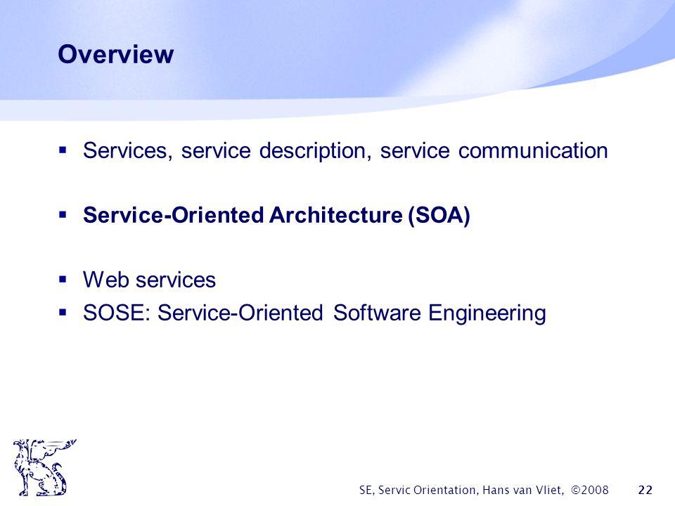 Overview Services, service description, service communication