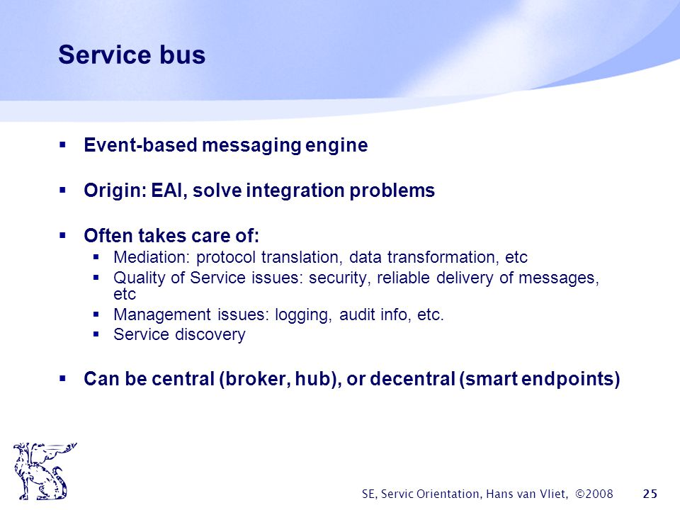 Service bus Event-based messaging engine