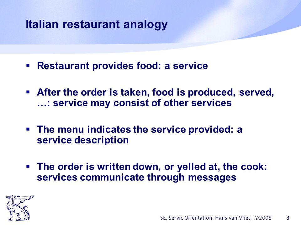 Italian restaurant analogy