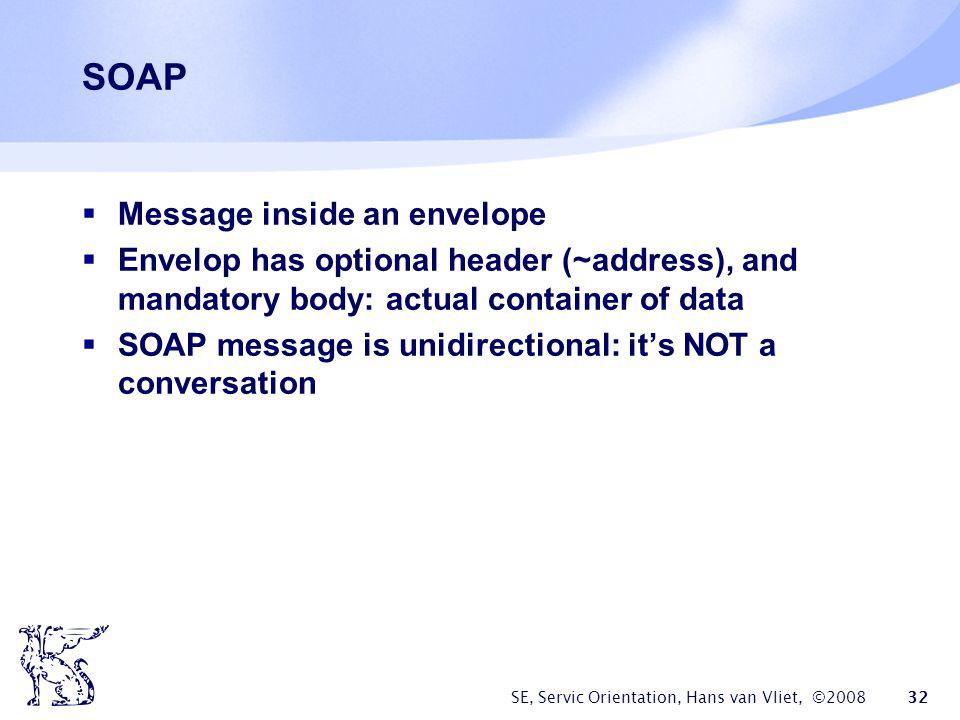 SOAP Message inside an envelope