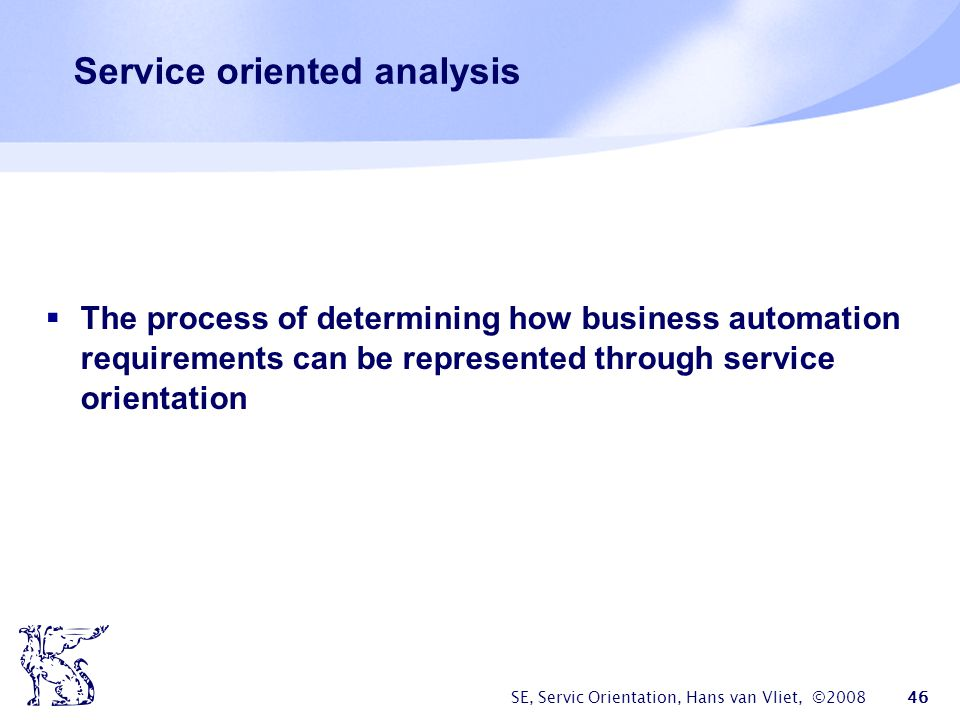 Service oriented analysis