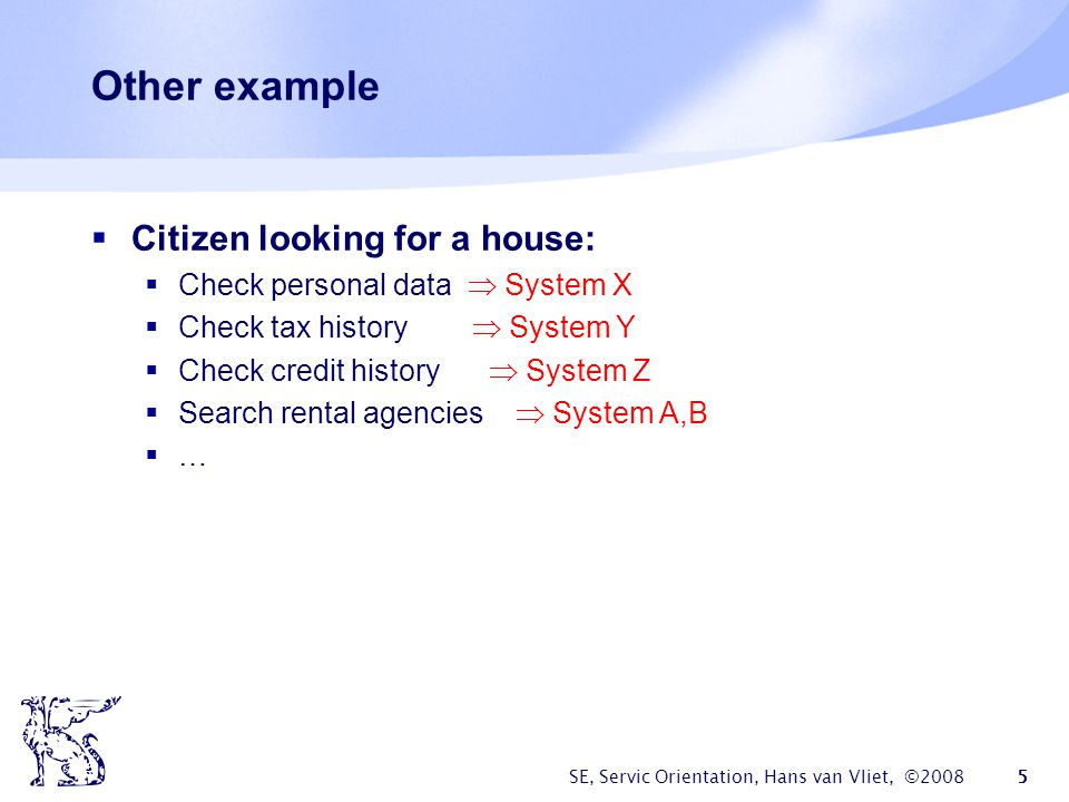 Other example Citizen looking for a house:
