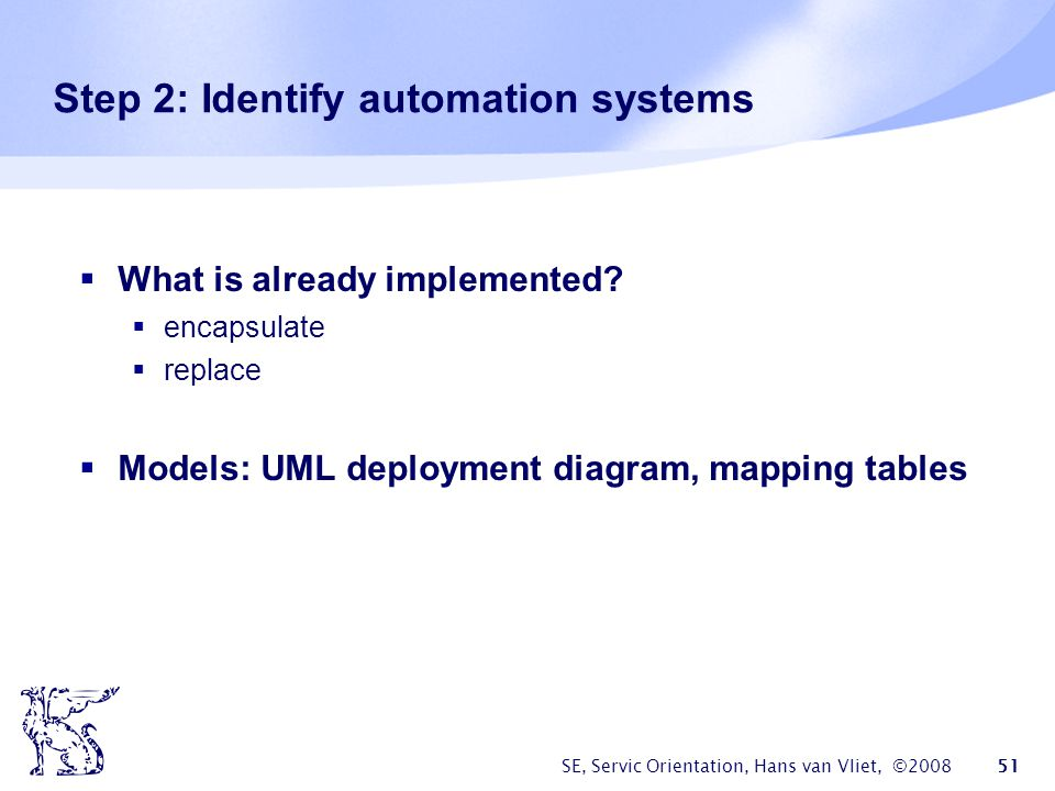 Step 2: Identify automation systems
