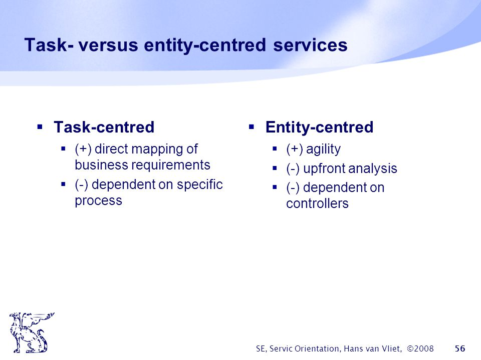 Task- versus entity-centred services