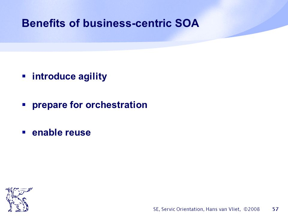 Benefits of business-centric SOA