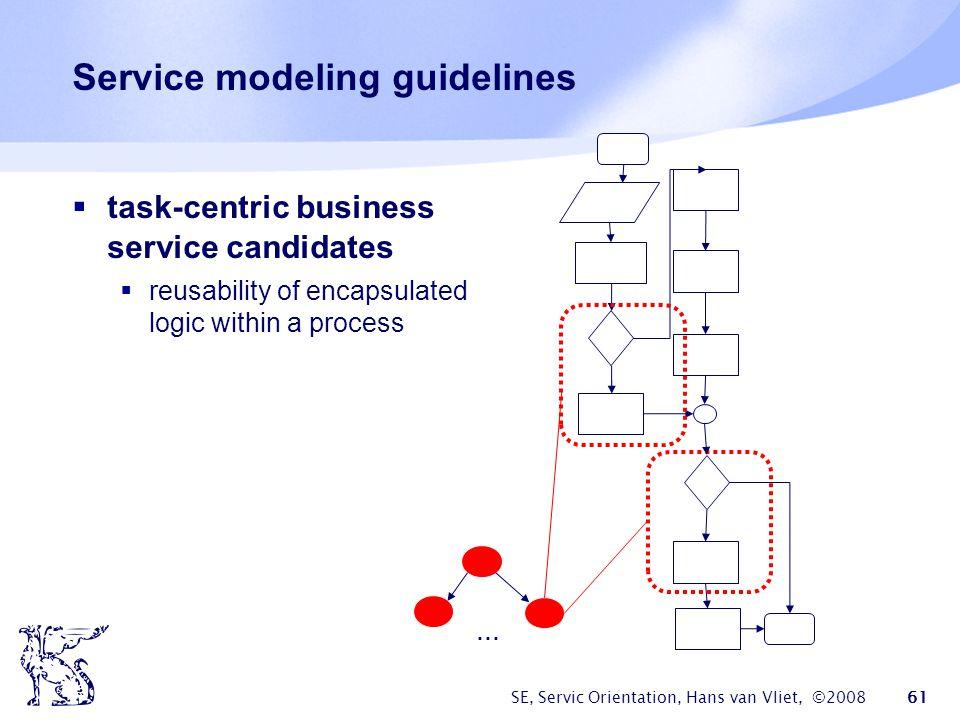Service modeling guidelines