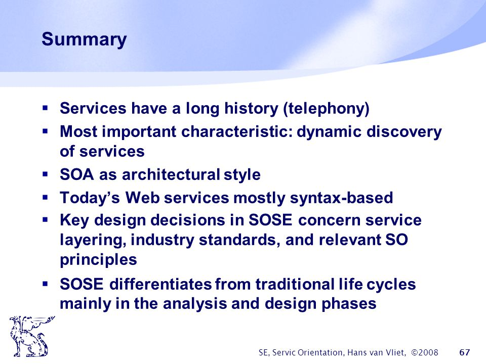 Summary Services have a long history (telephony)