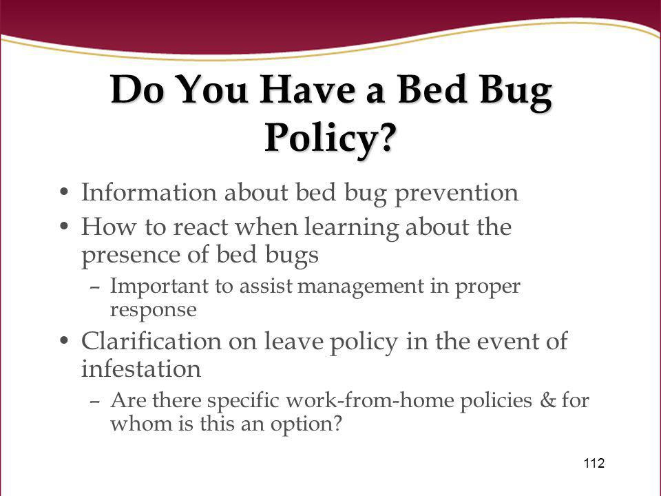 Do You Have a Bed Bug Policy