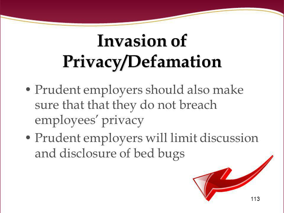 Invasion of Privacy/Defamation