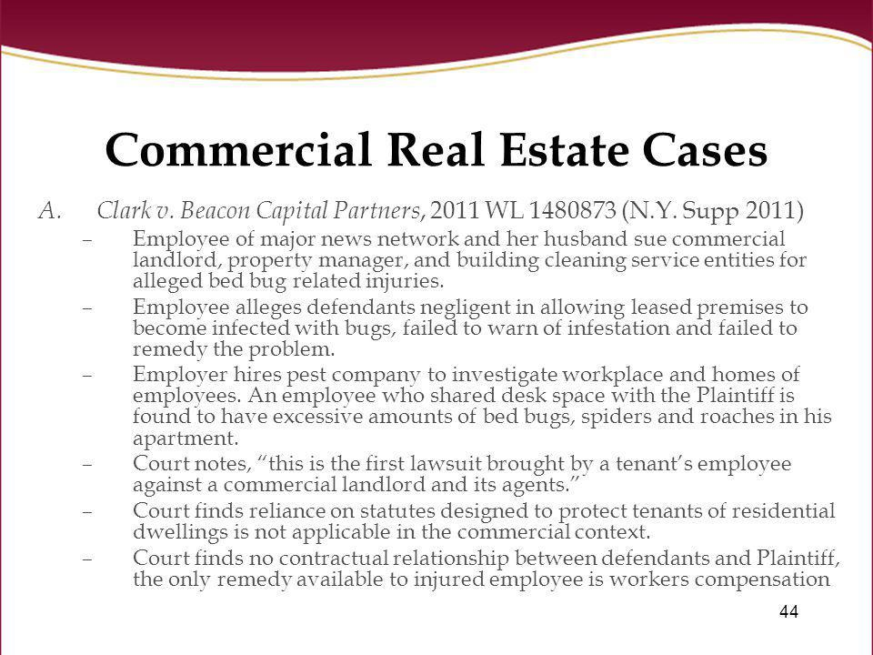 Commercial Real Estate Cases