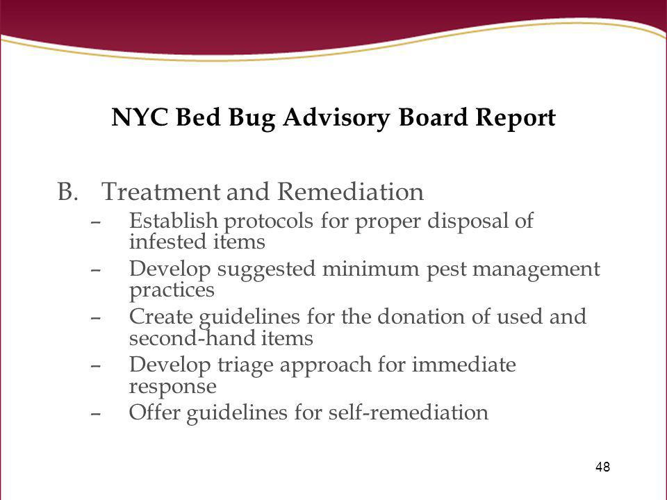 NYC Bed Bug Advisory Board Report