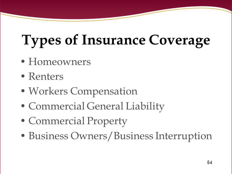 Types of Insurance Coverage
