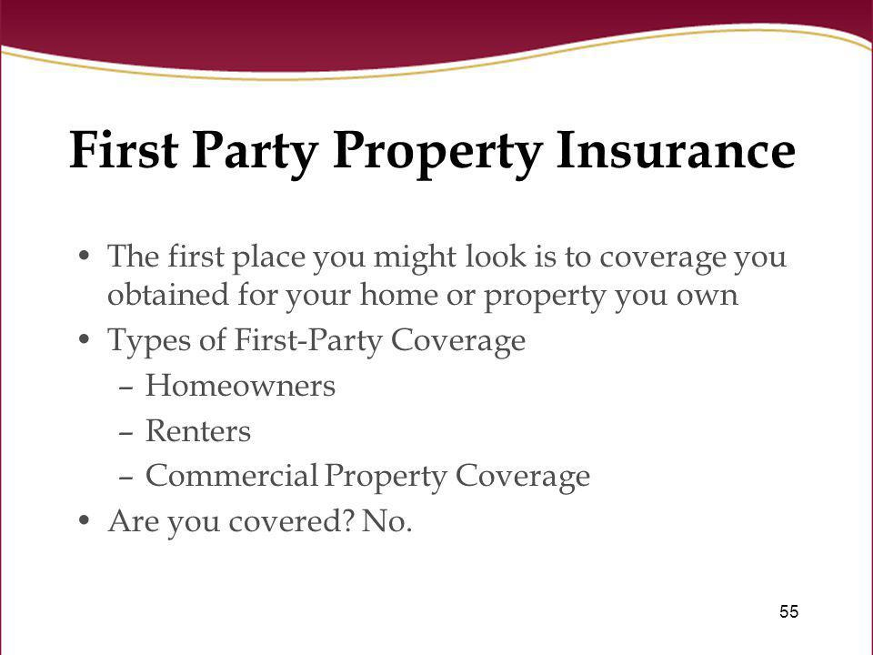 First Party Property Insurance